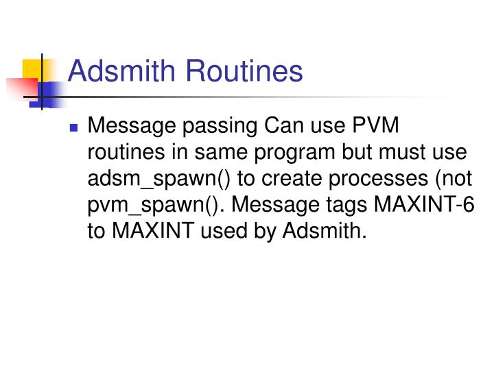 Adsmith Routines