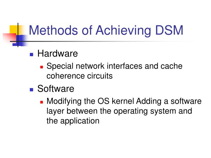 Methods of Achieving DSM