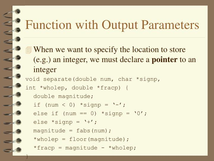 Function with output parameters1