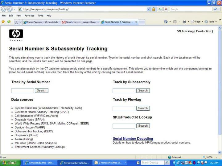 Process - Subassembly verification