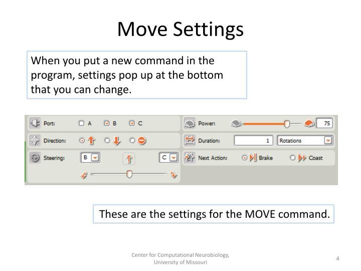 Move Settings