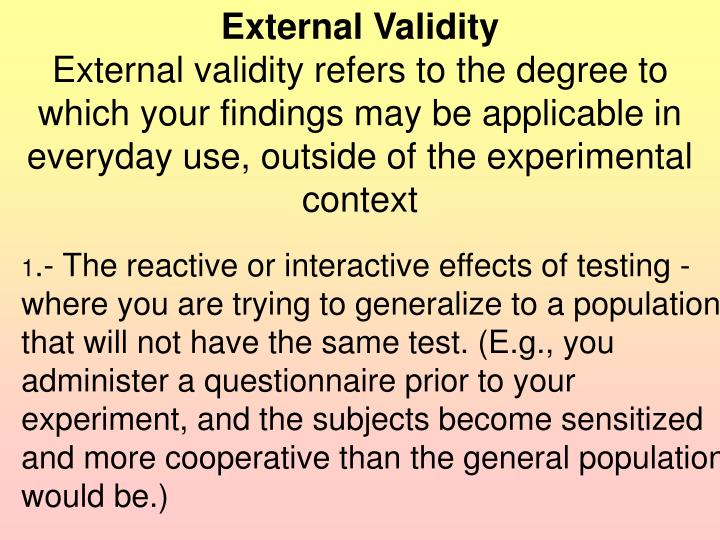 External Validity