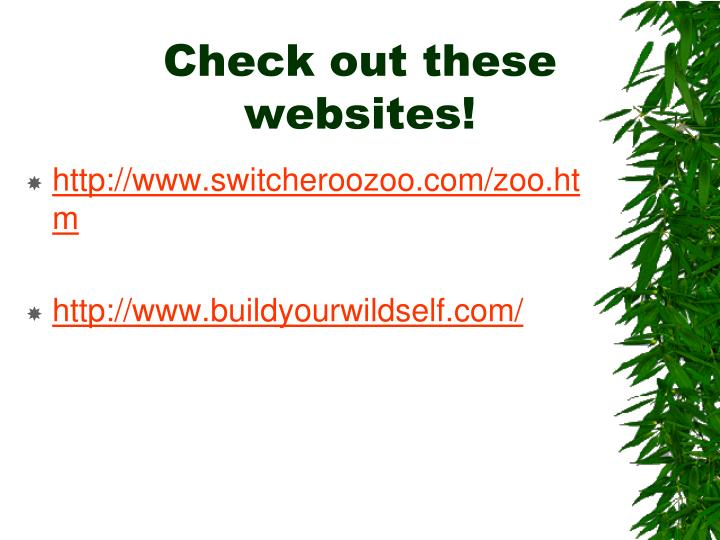 Check out these websites!