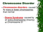 chromosome disorder