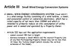 article iii small wind energy conversion systems