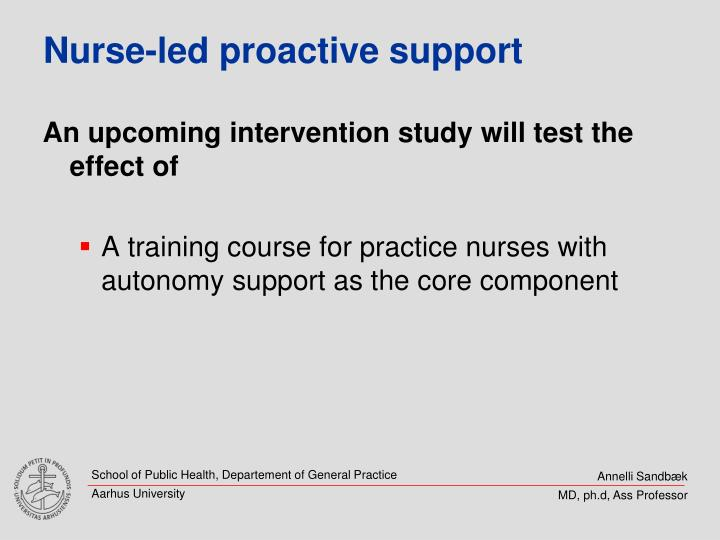 Nurse-led proactive support