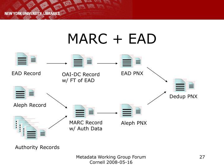 MARC + EAD