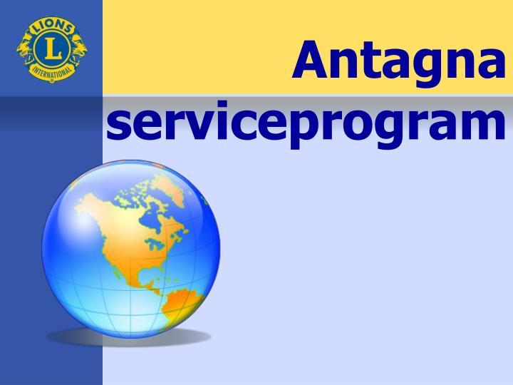 Antagna serviceprogram