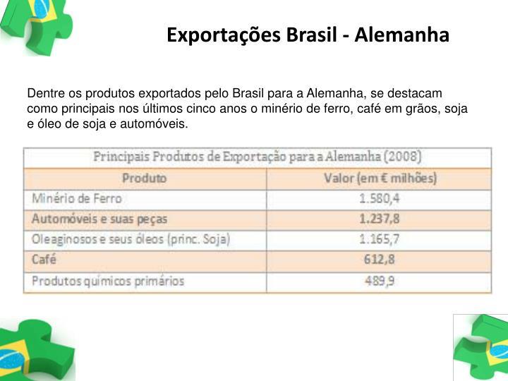 Exportações Brasil - Alemanha