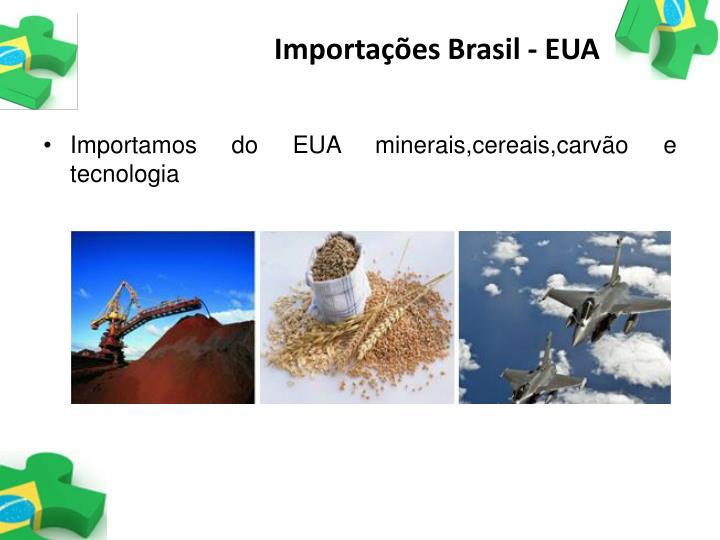 Importações Brasil - EUA