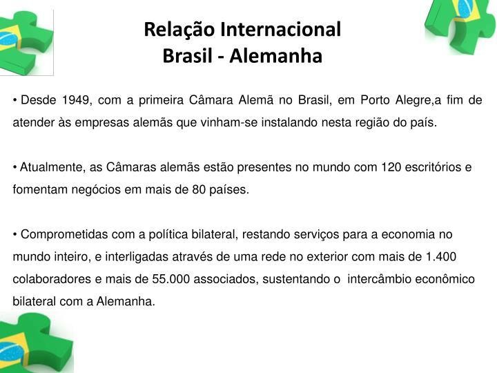 Relação Internacional                         Brasil - Alemanha
