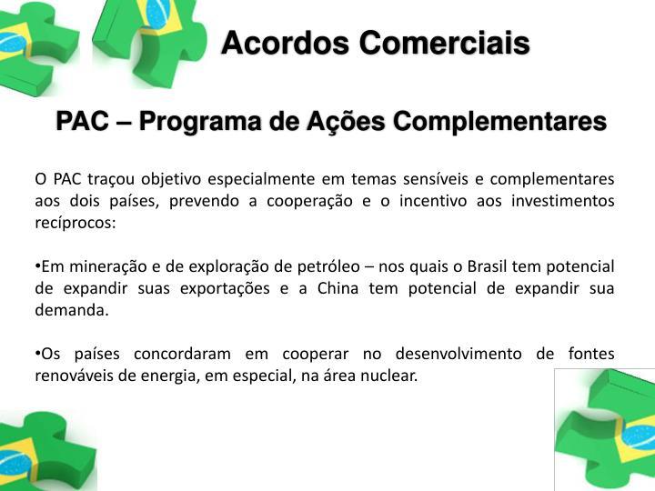 Acordos Comerciais