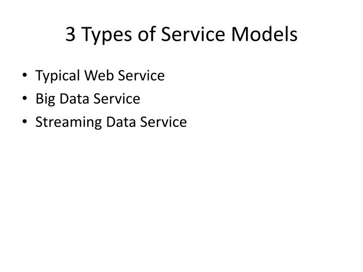3 Types of Service Models