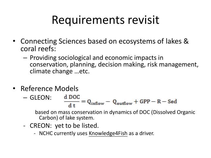 Requirements revisit