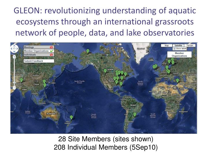 GLEON: revolutionizing understanding of aquatic ecosystems through an international grassroots netwo...