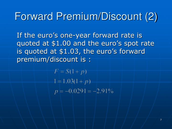Forward Premium/Discount (2)
