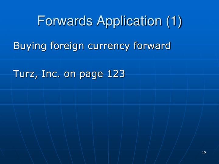 Forwards Application (1)