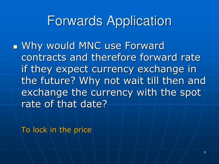 Forwards Application