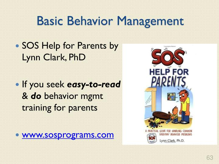 Basic Behavior Management