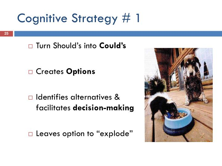 Cognitive Strategy # 1