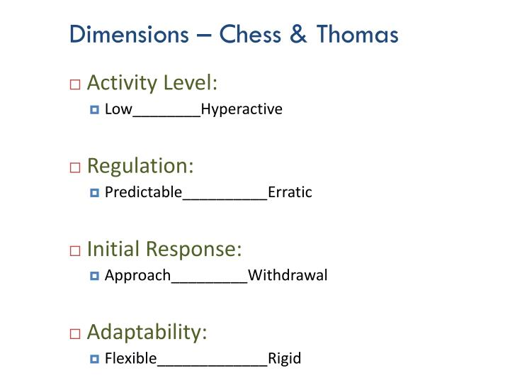 Dimensions – Chess & Thomas