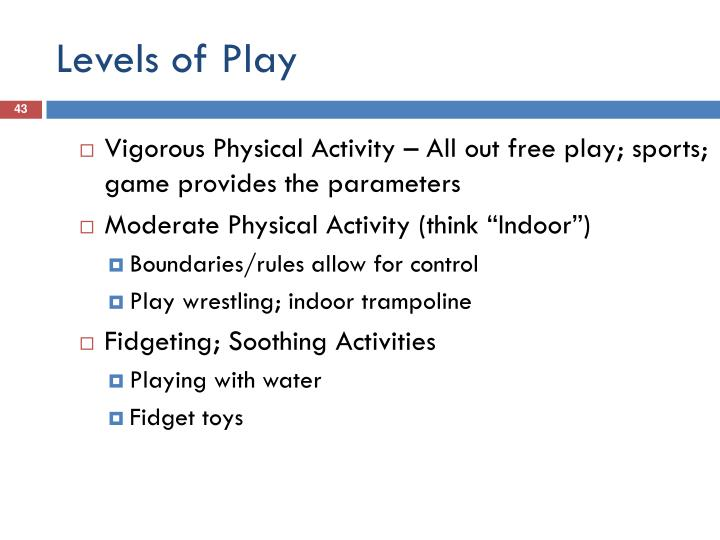 Levels of Play