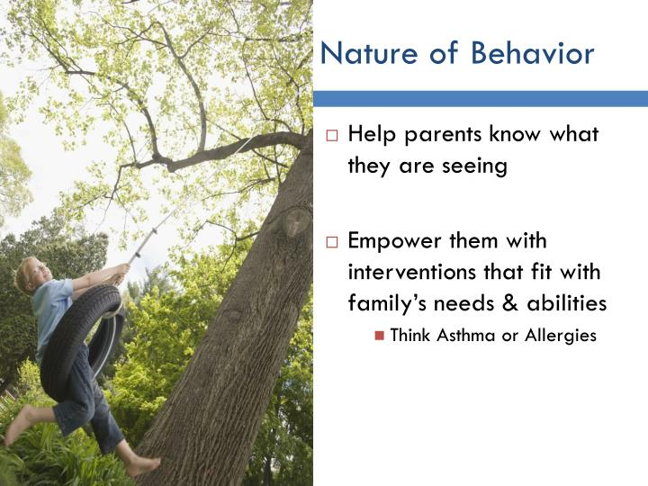 Nature of Behavior