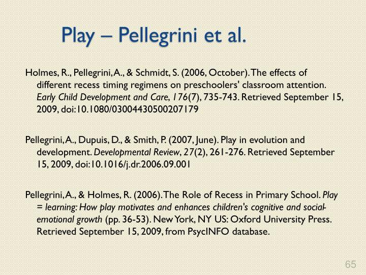 Play – Pellegrini et al.