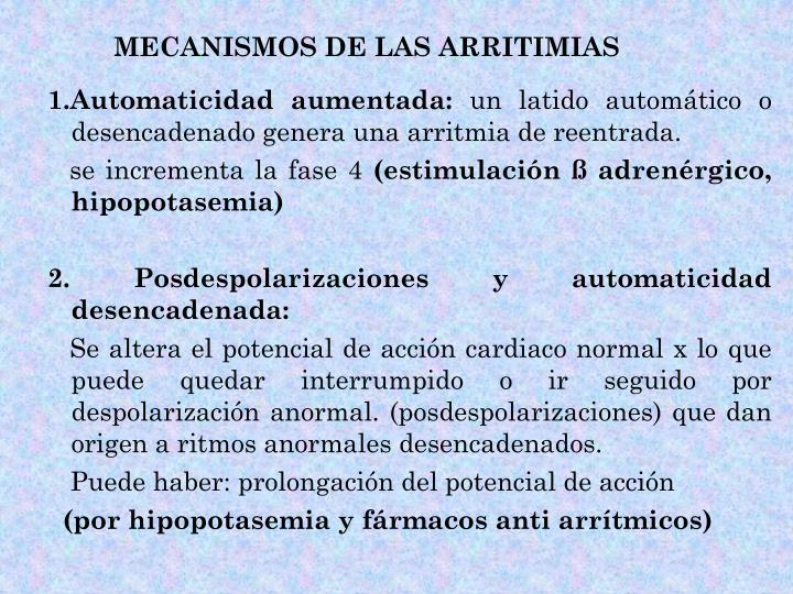 MECANISMOS DE LAS ARRITIMIAS