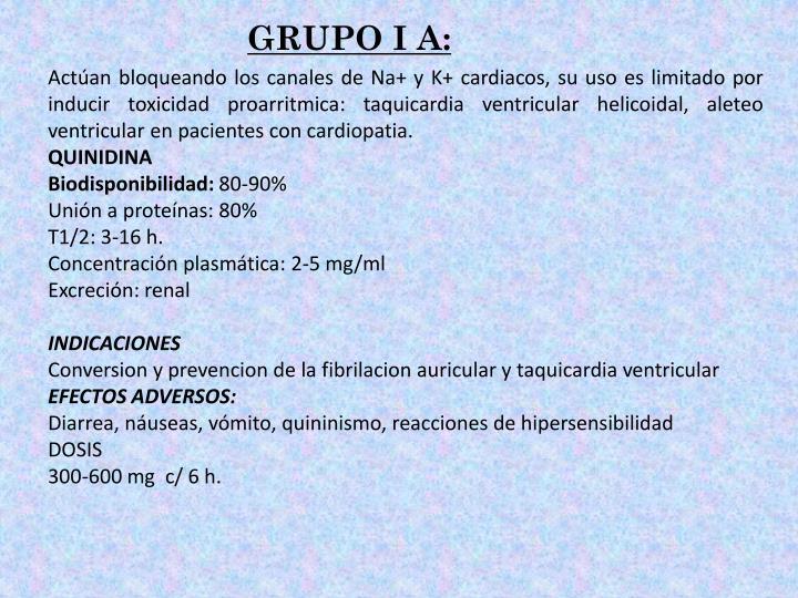 GRUPO I A: