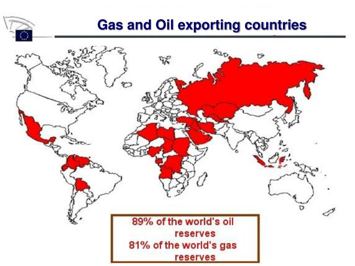 Gas and Oil exporting countries