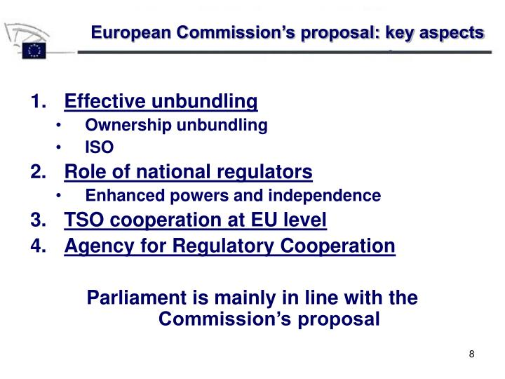 European Commission's proposal: key aspects