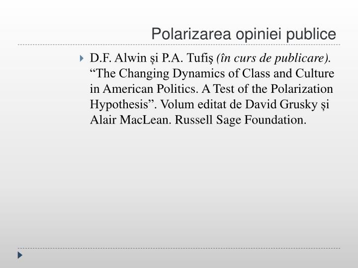 Polarizarea opiniei publice