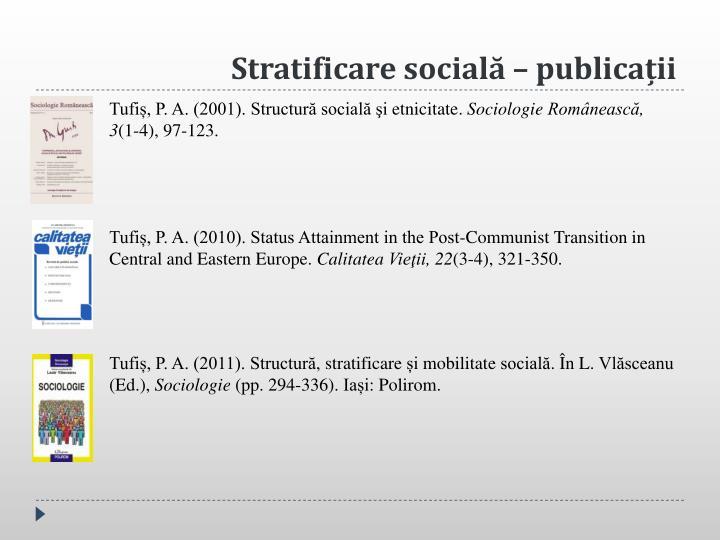 Stratificare socială