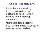 what is read naturally