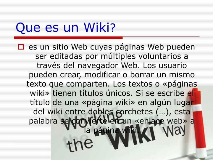 Que es un Wiki