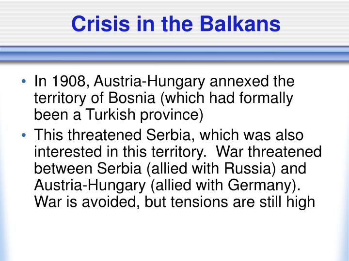 Crisis in the Balkans