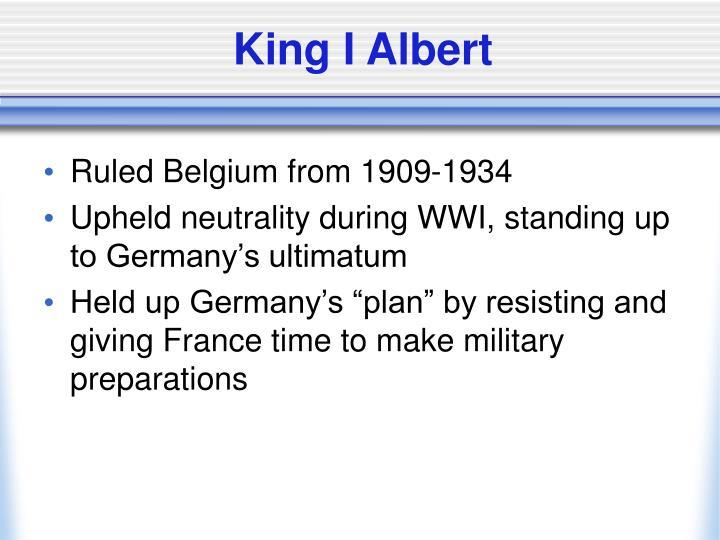 King I Albert
