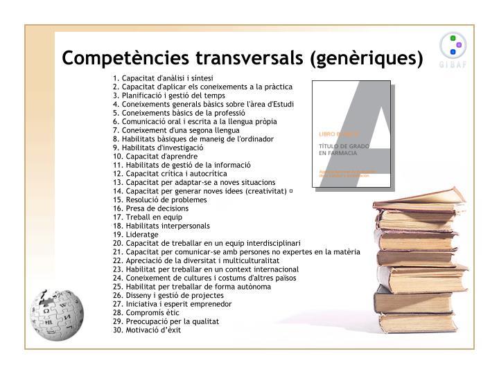Competències transversals (genèriques)