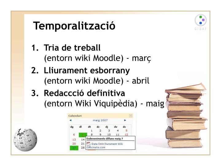 Temporalització