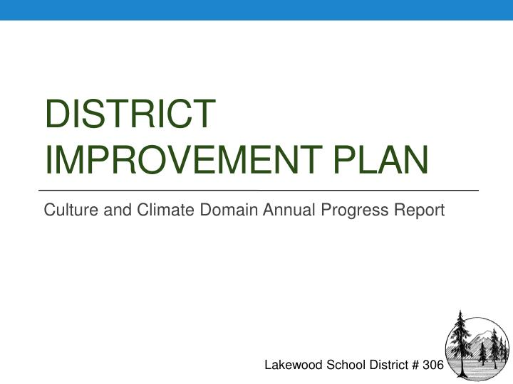 District improvement plan
