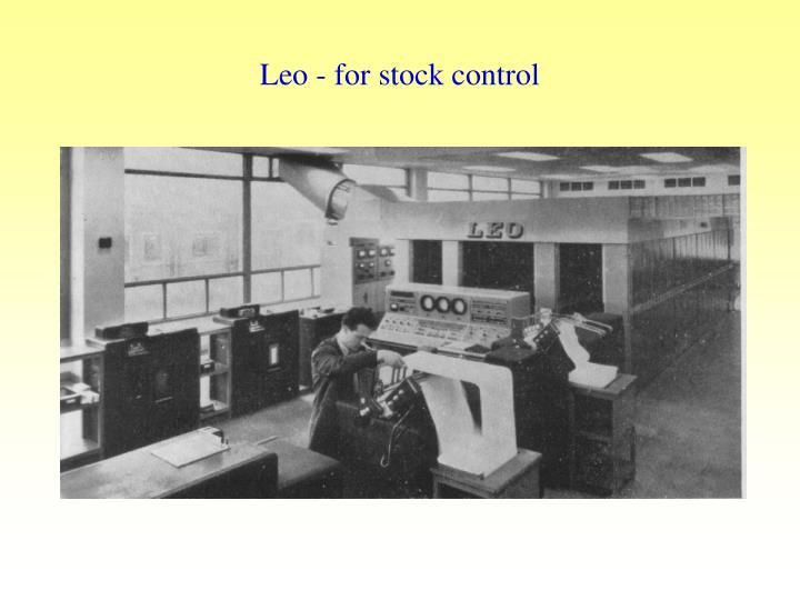 Leo - for stock control