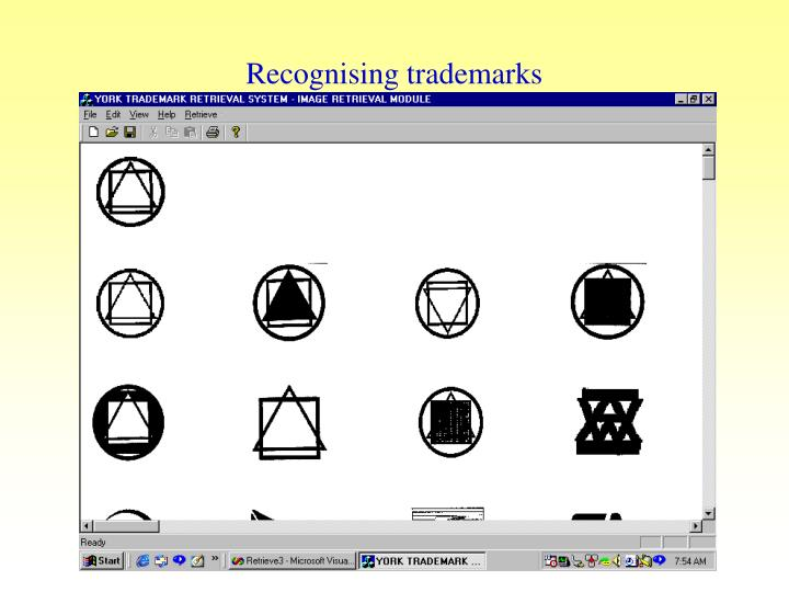 Recognising trademarks