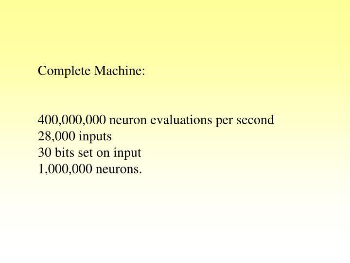 Complete Machine: