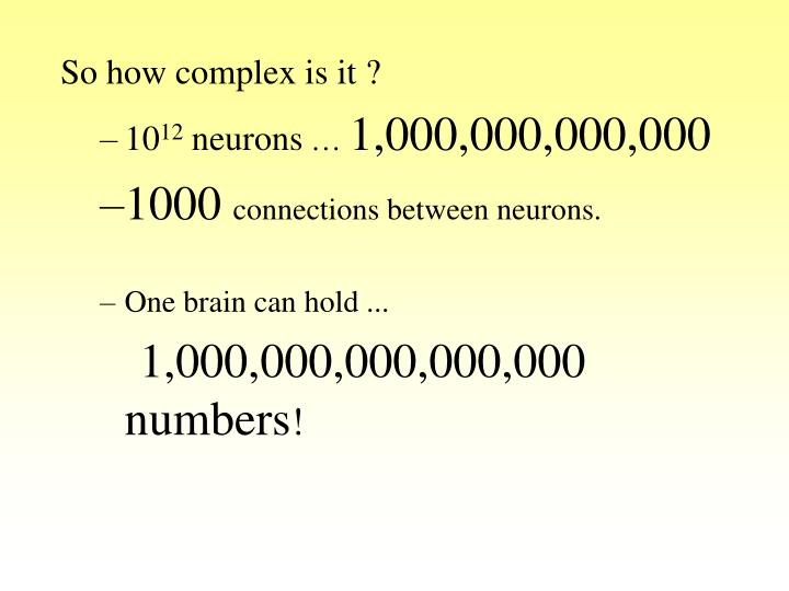 So how complex is it ?