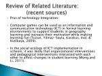 review of related literature recent sources