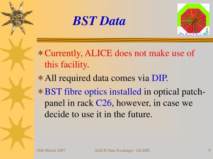 BST Data