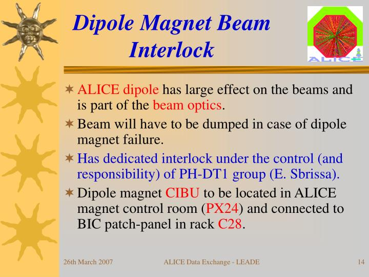 Dipole Magnet Beam Interlock