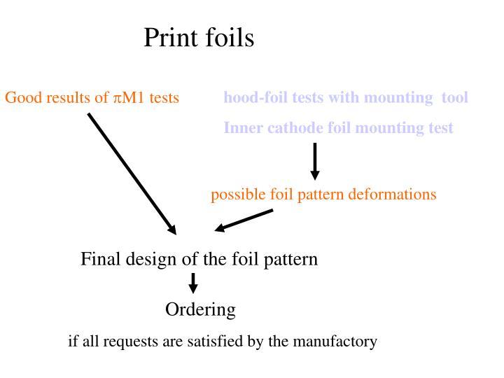 Print foils