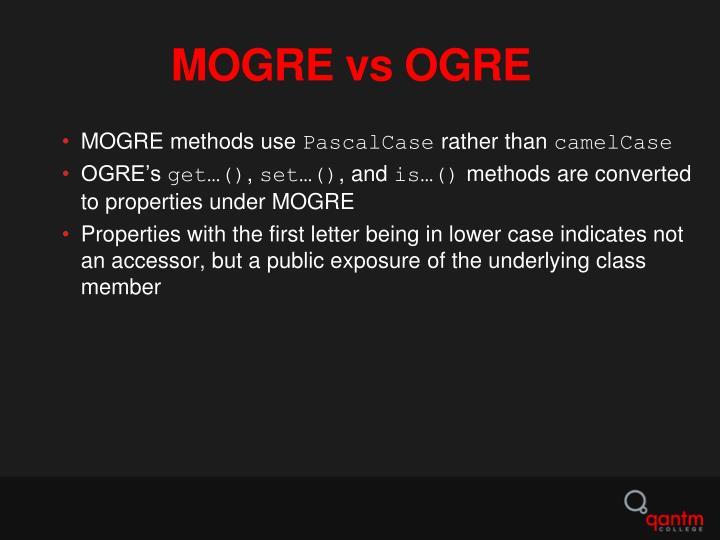 MOGRE vs OGRE